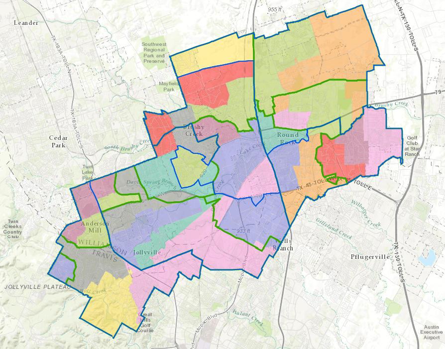 Round Rock ISD Map