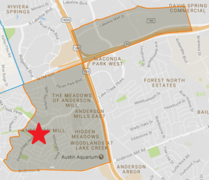 Anderson Mill Elementary Map